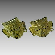 Sterling Silver Gold Tone Myan Cuff Links Signed SFG