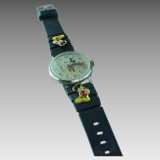 """Vintage """"50"""" Happy Years Walt Disney, Mickey Mouse Limited Edition Commemorative Watch"""