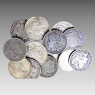 Lot of 4 Morgan & Peace 90% Silver Dollars (NO Culls) All Full Dates #DV08