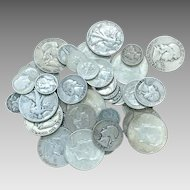 1/2 LB 90% U.S Silver Coins Half Dollars Quarters Dimes Mixed Lot All Full Dates DV103