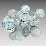 $10.00 U.S Silver 90% Coins Half Dollars Quarters Dimes Mixed Lot All Full Dates DV104