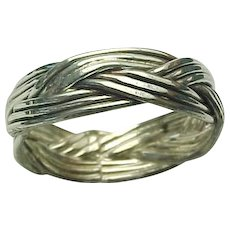 Vintage Sterling Silver Intertwined Band