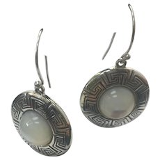 Sterling Silver Mother of Pearl Earrings #L847