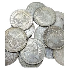 Lot of 3 1921 Morgan Silver Dollars P D & S in VF or Better Condition #DV01
