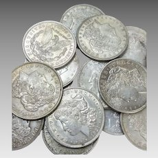 Lot of 3 1921 Morgan Silver Dollars P D S in VF or Better Condition #DV01