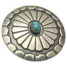 Native American Sterling Silver, Navajo Sadie Sam Pendant/Brooch