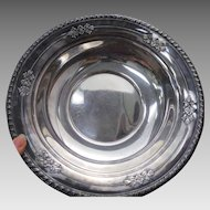 """Early Wallace Sterling Silver 10"""" Bowl Repousse #225"""