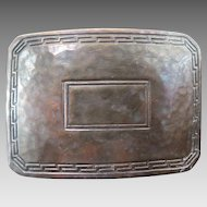 Victorian  William B. Kerr, Sterling Silver, Hand Hammered Belt Buckle