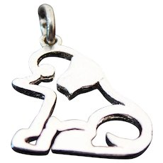 Vintage Sterling Silver Cut Out Puppy Charm