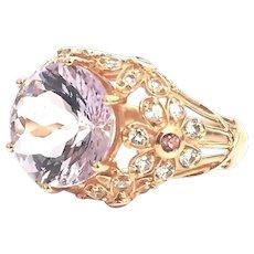 14 Karat White or Rose Gold 7.00 CTW Rose De France Amethyst, Spinel & Pink Tourmaline Ring #LW871, #LR324