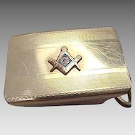 Vintage Anson Gold Filled Masonic Belt Buckle