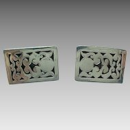 MAR Mexico Sterling Silver/Niello Shadow Box Cuff Links