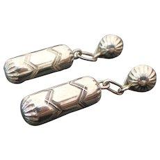 Sterling Silver Pierced Post Drop Earrings