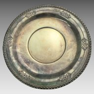 """Early Wallace Sterling Silver 10"""" Plate Repousse #225"""