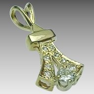 Vintage 14K Yellow Gold .50 Carat Diamond Pendant