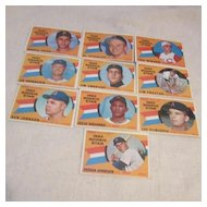 Vintage 1960 Topps Baseball Cards Rookie Star (10 cards)