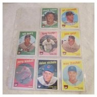 Vintage topps 1959 Totts Baseball cards Chicago Cubs 8 card set