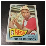 ps 1965 Baseball Cards Cincinnati Reds Frank Robinson.