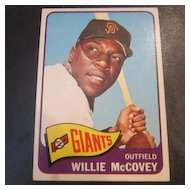 Vintage 1965 Topps Baseball Card Willie McCovey