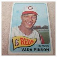 Vintage Topps 1965 Baseball Card Vada Pinson