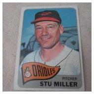 Vintage 1965 Topps Baseball Card Stu Miller