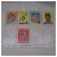 Vintage 1959 Topps Baseball Cards Set of 5