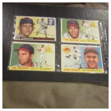 Vintage 1955 Topps Baseball cards Set of 4