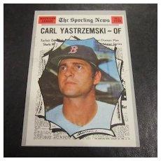 Vintage 1970 Topps Baseball Card Carl Yastrzemski