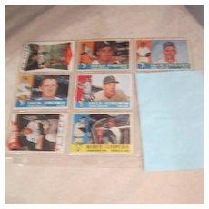 Vintage 1960 Topps  Baseball Cards Set of 7