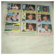 Vintage 1960 Topps Baseball Cards Set of 9 Cleveland Indians
