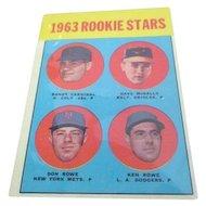 1963 Rookie Stars Topps Baseball Card