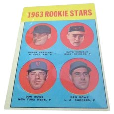 1963 Rookie Stars Topps Baseball Card