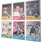 1963 Baseball Card Topps #142, 144,145, 146,147, 148  1962 World Series