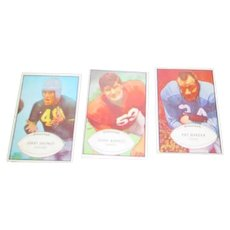 Set of 3 1953 Bowen Football Cards