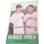 1963 Topps Baseball Card #331 Series Foes