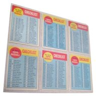 Set of 6 Topps Baseball Cards 1963 Checklist