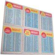 Set of 6 Topps Baseball Cards 1963 Checklist