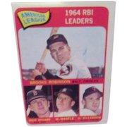 Topps Card #5 1964 RBI Leaders