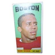 Topps 1965 Football Card #21 Don Webb