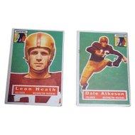 Two 1956 Topps Football Cards Washington Redskins