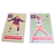 Two 1956 Topps Football Cards Pittsburgh Steelers