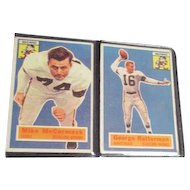 1956 Topps Football Cards Cleveland Browns