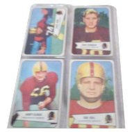 Set of 4 Bowman 1954 Football Cards Washington Redskins