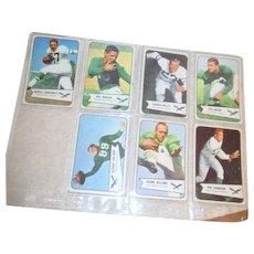 Set of Seven 1954 Bowman Football Cards Philadelphia Eagles