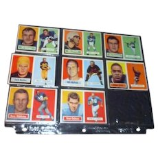 Set of 8 Topps Football Cards 1957