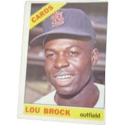 Lou Brock St. Louis Cardinals 1966 Baseball Card