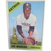 Joe Morgan 1966 Baseball Card