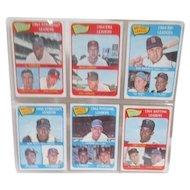 Set of Six 1964 Topps Baseball Cards 1964 Leaders