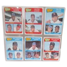 Set of Six 1964 Topps Baseball Cards 1964 Leaders