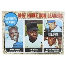 Topps 1967 Baseball Card #5 Home Run Leaders National League